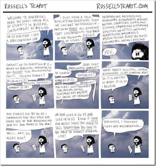 Biblical Literalism cartoon