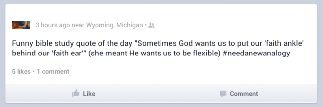 I didn't know God was into that.